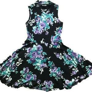 UO Kimchi Blue purple floral mini dress.